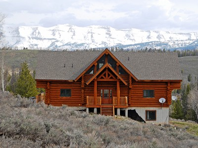 Single Family Home for sales at Log Home in Hoback Ranches 36 Vista Ridge Lane Bondurant, Wyoming 82922 United States