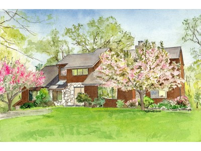 Single Family Home for sales at Striking Contemporary 6 East Quaker Hill Court Croton On Hudson, New York 10520 United States