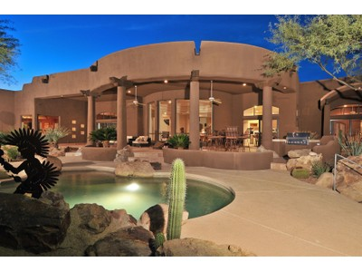 Частный односемейный дом for sales at Great Southwest Home in Gated Troon Ridge Estates 11415 E Desert Vista Drive  Scottsdale, Аризона 85255 Соединенные Штаты