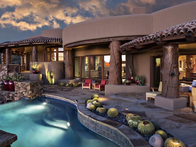 Single Family Home for sales at Peaceful Sonoran Desert Lifestyle in Stunning Southwestern Desert Mountain Home 9882 E Madera Drive Scottsdale, Arizona 85262 United States
