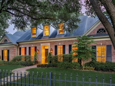 Single Family Home for sales at Elegant Bluffview Traditional 8708 Canyon Drive Dallas, Texas 75209 United States