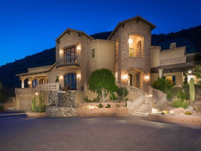 Vivienda unifamiliar for sales at Extraordinary Custom Estate Ensconced Into & Embraced By The McDowell Mountains 11424 E Dreyfus Ave Scottsdale, Arizona 85259 Estados Unidos