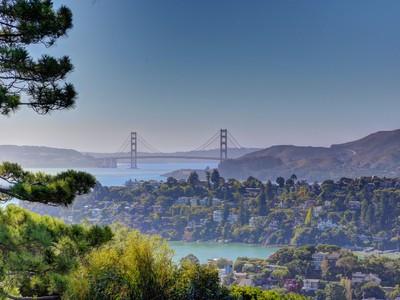 Tek Ailelik Ev for sales at Spectacular Golden Gate Bridge & Bay Views 1820 Mountain View Drive  Tiburon, Kaliforniya 94920 Amerika Birleşik Devletleri