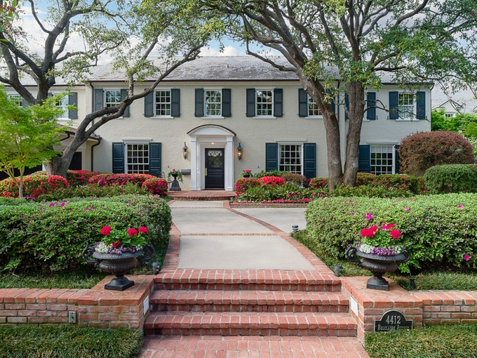Single Family Home for sales at Highland Park Traditional 4412 Belclaire Avenue Dallas, Texas 75205 United States