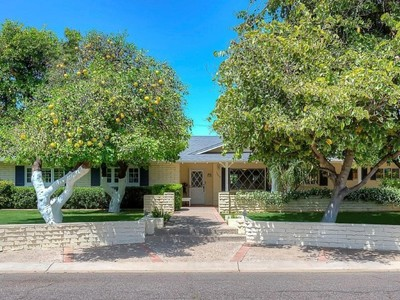 Villa for sales at Endless Character Exudes From This Classic Arcadia Ranch Home 6048 E Calle Del Norte Scottsdale, Arizona 85251 United States