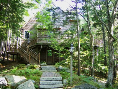 Maison unifamiliale for sales at The Treehouse 11 Treehouse Way Northeast Harbor  Mount Desert, Maine 04662 États-Unis