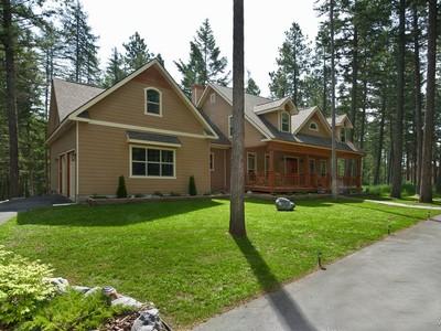 Частный односемейный дом for sales at Spacious Home & Acreage 13095 Sylvan Drive  Bigfork, Монтана 59911 Соединенные Штаты