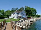 Single Family Home for  sales at Direct Waterfront Living in Private Association 12 Nathan Hale Drive Norwalk, Connecticut 06854 United States