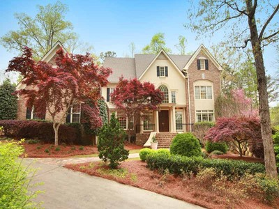 Single Family Home for sales at Brick Estate on Golf Course 9400 Colonnade Trail Alpharetta, Georgia 30022 United States