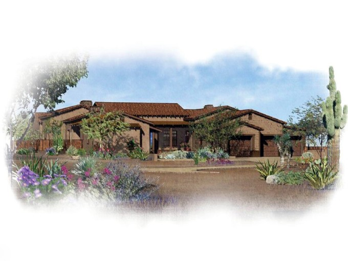 Single Family Home for sales at New Construction - Bob Bacon Designed Southwestern Ranch Style Home 8555 E Tecolote Circle  Scottsdale, Arizona 85266 United States