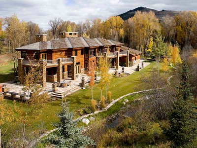 Maison unifamiliale for sales at Privacy & Elegance in John Dodge 3615 N. Goldeneye Rd.  West Bank North, Wyoming 83014 États-Unis