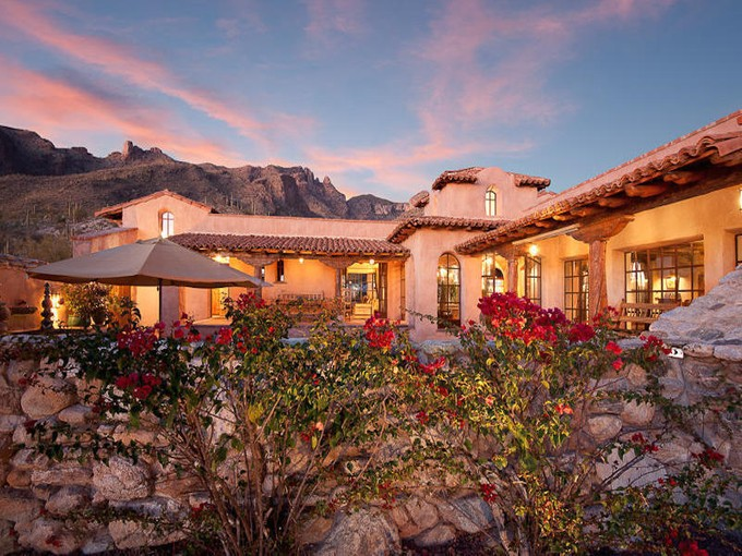 Single Family Home for sales at Stunningly Original 'Hacienda Rosetta Marie' in Guard-Gated 'The Canyons' 7288 N Cloud Canyon Place   Tucson, Arizona 85718 United States