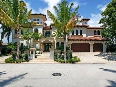 Maison unifamiliale for sales at 341 Royal Plaza Dr.  Fort Lauderdale, Florida 33301 États-Unis
