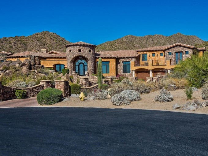 Single Family Home for sales at Elegant Custom Home Encompassed By Natural Mountain Setting & Sensational Views 4341 N El Sereno Circle Mesa, Arizona 85207 United States