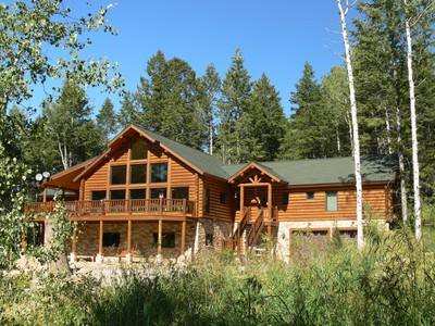 Single Family Home for sales at Private Mountain Retreat in the Trees 3415 Sorensen Creek Victor, Idaho 83455 United States