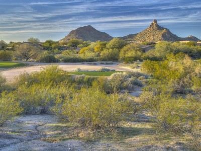 Земля for sales at Easy-Build Lot with Full View of Pinnacle Peak on the Troon Golf Course 10801 E Happy Valley Rd #89  Scottsdale, Аризона 85255 Соединенные Штаты