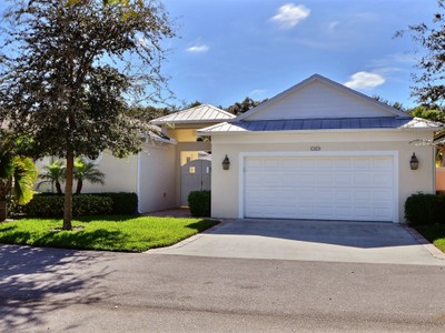 Single Family Home for sales at One of a Kind Courtyard Home with Upgrades Galore! 1349 Winding Oaks Circle West Vero Beach, Florida 32963 United States