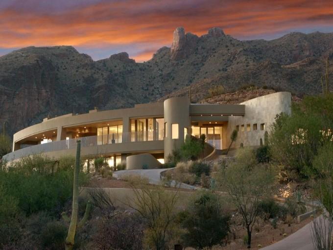 独户住宅 for sales at Visually Stunning Contemporary Masterpiece Unsurpassed In Views 7164 N Mercer Spring Tucson, 亚利桑那州 85718 美国
