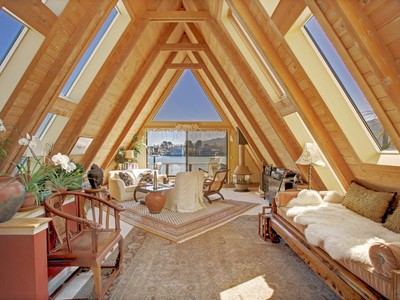 Vivienda unifamiliar for sales at Enchanting A-Frame on Sausalito's Waterfront 20 Gate 6 1/2 Road Sausalito, California 94965 Estados Unidos