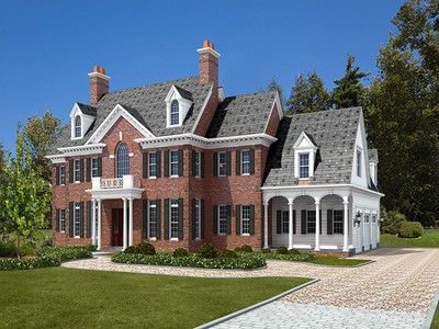 Single Family Home for sales at Majestic Brick Georgian 5 Burgess Rd Scarsdale, New York 10583 United States