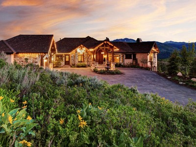 Single Family Home for sales at An Exceptional Home on Approximately 14 Acres 1876 W Red Hawk Trl Park City, Utah 84098 United States