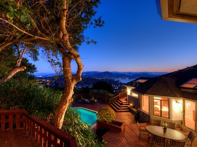 Casa Unifamiliar for sales at Mesmerizing Views of SF, GGB, Belvedere Lagoon & Richardson Bay! 31 Meadow Hill Drive Tiburon, California 94920 Estados Unidos