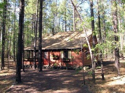 Maison unifamiliale for sales at Charming Cabin Conveniently Located In Desirable White Mountain Summer Homes 3999 Rainbow Drive Pinetop, Arizona 85935 États-Unis