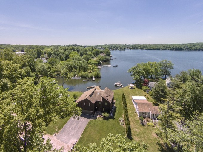 Single Family Home for sales at Waterfront on Lake Pocotopaug 15 Oneill Lane East Hampton, Connecticut 06424 United States