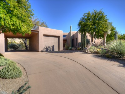 Single Family Home for sales at Private Santa Fe with Golf Course Views 1604 N QUARTZ VALLEY RD  Scottsdale, Arizona 85266 United States