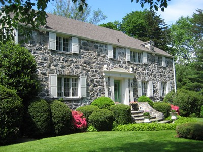 Einfamilienhaus for sales at Superbly situated Stone Colonial 70 Mendota Avenue  Rye, New York 10580 Vereinigte Staaten