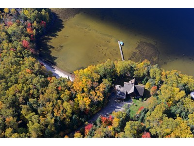 Single Family Home for  at Waterfront log home 1790 Ch. des Hêtres Nominingue, Quebec J0W1R0 Canada