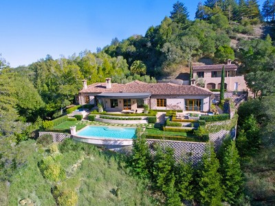 獨棟家庭住宅 for sales at The Barry Zito Estate - Villa Della Pace 660 Goodhill Road Kentfield, 加利福尼亞州 94904 美國