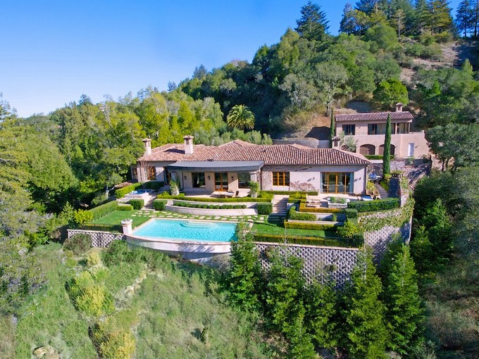 Casa Unifamiliar for sales at The Barry Zito Estate - Villa Della Pace 660 Goodhill Road  Kentfield, California 94904 Estados Unidos