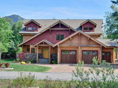Single Family Home for sales at Idaho Club Post and Beam Masterpiece 62 Clubhouse Way Sandpoint, Idaho 83864 United States
