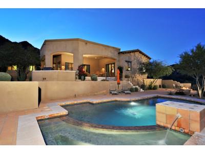 Maison unifamiliale for sales at Luxury Home with Breathtaking Mountain Views on Hillside Lot in Hidden Hills 14465 E Corrine Drive Scottsdale, Arizona 85259 États-Unis