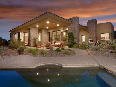 Single Family Home for sales at Resort Living In Amazing Southwest Contemporary On Golf Course In Dove Mountain 14516 N Sunset Gallery Drive Marana, Arizona 85658 United States