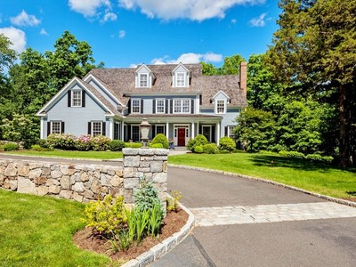 Casa para uma família for sales at Sublimely Situated 14 Brandon Circle  Wilton, Connecticut 06897 Estados Unidos