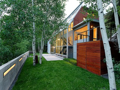Einfamilienhaus for sales at East End Contemporary Home 134 Eastwood Drive Aspen, Colorado 81611 Vereinigte Staaten