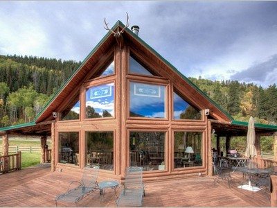 Single Family Home for sales at Log Home on 42+ Acres 3900 County Road 10 Meeker, Colorado 81641 United States