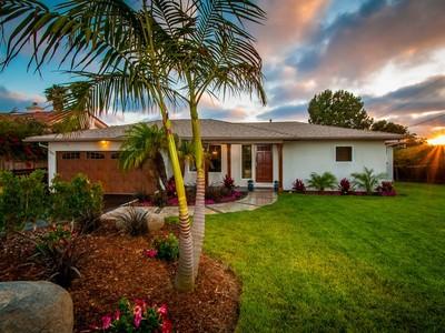 Maison unifamiliale for sales at 1386 Rubenstein Avenue  Cardiff By The Sea, Californie 92007 États-Unis