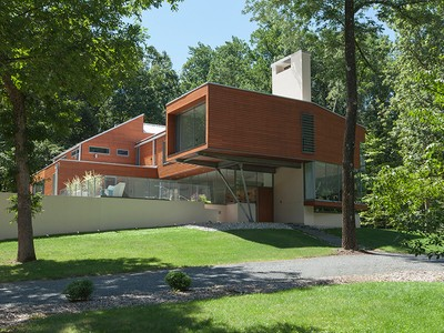 Villa for sales at Celebrated Modern Design Immersed In Nature 4565 Province Line Road Princeton, New Jersey 08540 Stati Uniti