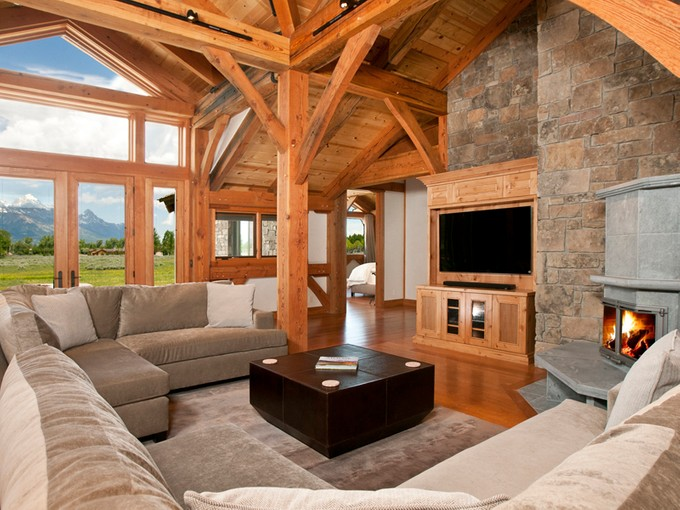 Maison unifamiliale for sales at Timber Frame in the Shadow of the Tetons 125 Huckleberry North Jackson Hole, Wyoming 83014 États-Unis