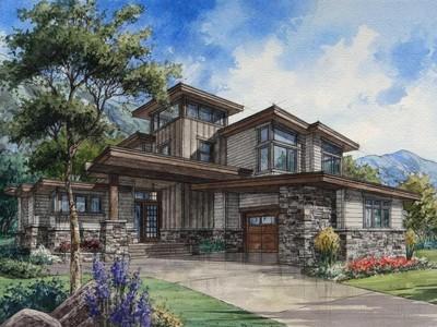 Maison unifamiliale for sales at Custom Mountain Contemporary 14652 S Leambra Ln Draper, Utah 84020 États-Unis