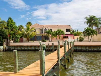 Single Family Home for sales at Gated Melbourne Beach Riverfront Home with Private Dock! 2034 South River Rd Melbourne Beach, Florida 32951 United States