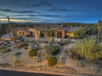 Single Family Home for sales at Highly Upgraded Custom Home w/ Exceptional Craftmanship on 3rd Hole in Estancia 9720 E Estancia Way Scottsdale, Arizona 85262 United States