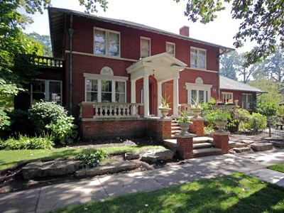 Single Family Home for sales at Stately 1920's East Wilmette Italianate Colonial 531 Greenleaf Avenue Wilmette, Illinois 60091 United States
