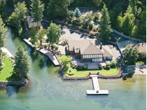 Single Family Home for sales at Imagine living on your own private island. 5193 W. Island View Dr.   Coeur D Alene, Idaho 83814 United States