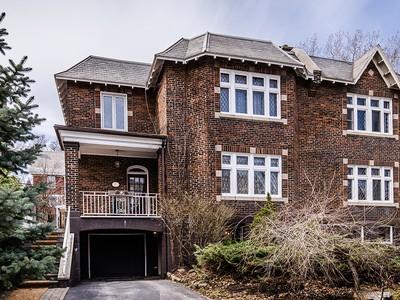 Частный односемейный дом for sales at Outremont 560 Av. McEachran Outremont, Квебек H2V3C4 Канада