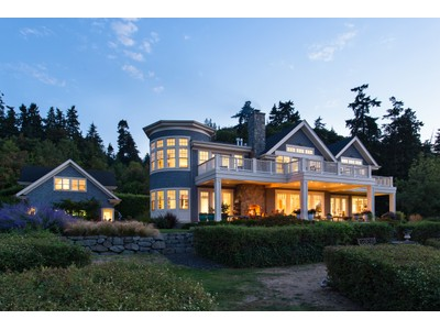 Single Family Home for sales at Unique Waterfront Estate 11900 NE Country Club Rd Bainbridge Island, Washington 98110 United States
