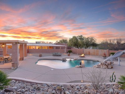 Single Family Home for sales at Fantastic Home with Remodeled Kitchen and Phenomenal Catalina Mountain Views 460 E Yvon Drive Tucson, Arizona 85704 United States